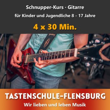 Schnupperkurs Gitarre Präsenz · Alter 8 - 17 Jahre